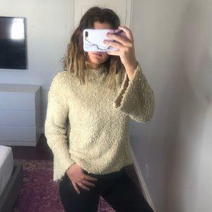 Anthropologie Mystree High Low Mock Neck Sweater